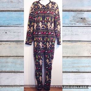 Other - UNICORN Holiday Themed Fleece Onesie Pajamas